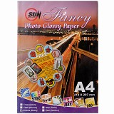 SUN Fancy Photo Paper Glossy 240 Gsm - Pinhole [Bintik] - Kertas Foto / Photo Paper